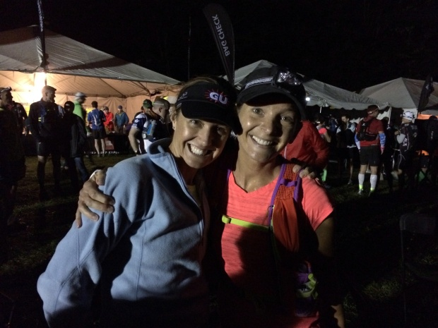 Julia and me at the TNF start