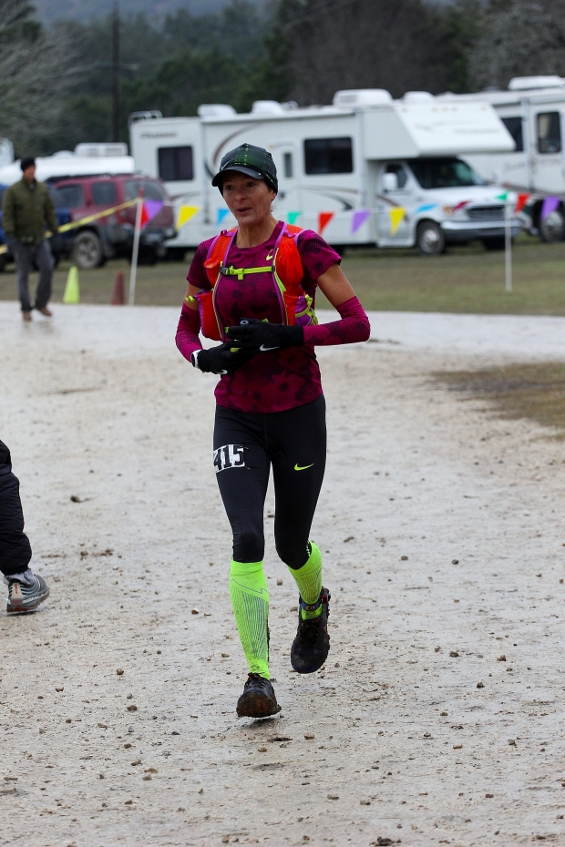 Coming in from the first 50k loop. Game face, on. (Photo credit: Enduro Photo)