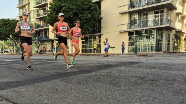 Running with practically the only other girl who isn't wearing briefs. (Photo: Mario Fraioli)