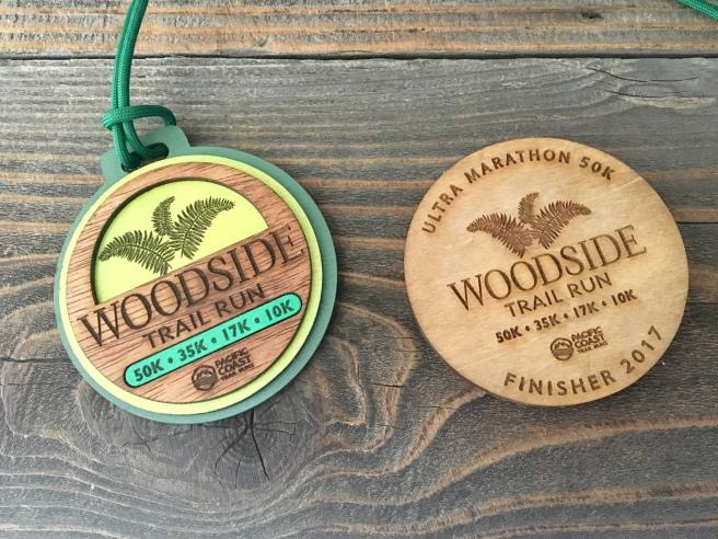 Woodside 50k Medal